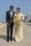 Wedding couple in Colombo, Sri Lanka Stock Photography