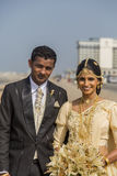 Wedding couple in Colombo, Sri Lanka Stock Images