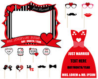 Wedding Couple Concept Vector Set, Marriage. Wedding concept of prepared for marriage. Works are to foil printable on Foam Plate/Photoblocker Plate/Forex Plate Royalty Free Stock Images