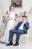 Wedding couple. Royalty Free Stock Photography