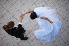 Wedding couple dancing Stock Image