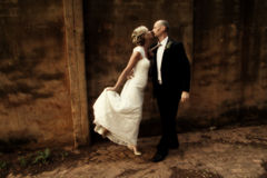 Wedding couple dancing Stock Photography