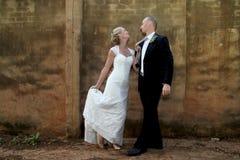 Wedding couple dancing Royalty Free Stock Photos