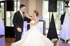 Wedding couple dancing Stock Photos