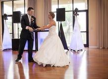 Wedding couple dancing Stock Photography