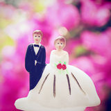 Wedding couple doll with retro filter Stock Photo