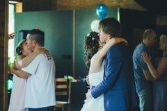 Wedding Couple Embrace royalty free stock photo