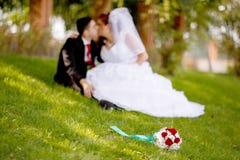 Wedding couple is enjoying wedding Royalty Free Stock Photography