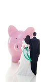 Wedding couple finance Stock Images