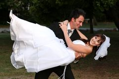 Wedding Couple Fun Stock Images