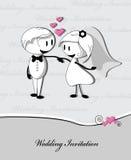 Wedding couple on grey background Stock Photo