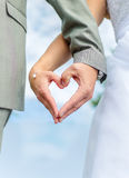 Wedding couple hands Royalty Free Stock Photo