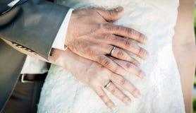 Wedding Couple Hands stock photo