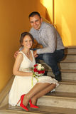 Wedding couple. Happy and in love Royalty Free Stock Image