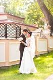 Wedding couple hugging Royalty Free Stock Photography