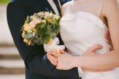 Wedding couple hugs Royalty Free Stock Image