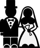 Wedding couple icon. Marriage vector Stock Image