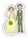 Wedding couple illustration Royalty Free Stock Photo