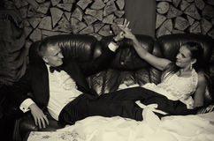 Free Wedding Couple In Retro Room Royalty Free Stock Image - 26741546