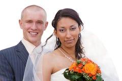 Wedding couple isolated Stock Photos