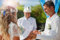 Wedding couple just married Royalty Free Stock Photos