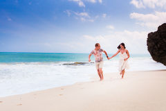 Wedding couple just married Royalty Free Stock Images