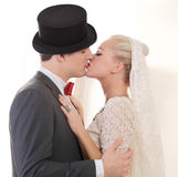 Wedding couple kiss Stock Photography