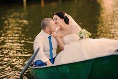 Wedding couple on the lake Royalty Free Stock Photo