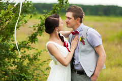 Wedding couple in love Stock Photos