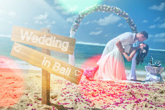 Wedding couple, marriage, honeymoon sumer travel at Bali Stock Images
