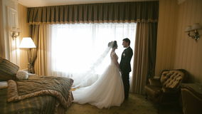 Wedding Couple Meeting stock footage