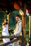 Wedding couple in nature Royalty Free Stock Photo