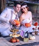 Wedding couple in nature Stock Photo
