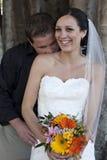 Wedding couple oudoors Royalty Free Stock Photo