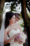 Wedding couple outdoor Royalty Free Stock Image