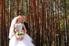 Wedding couple outdoor Royalty Free Stock Photography