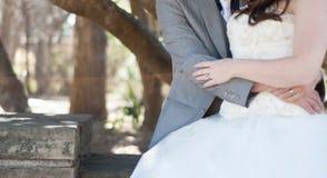 Wedding couple outdoor Stock Photos