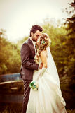 Wedding couple outdoor Royalty Free Stock Photo