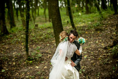 Wedding couple outdoor Royalty Free Stock Images