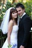 Wedding Couple Outdoors Stock Photography