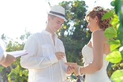 Wedding couple on Phuket Royalty Free Stock Photography