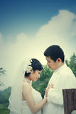 Wedding couple portrait Royalty Free Stock Photos