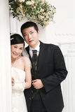 Wedding couple portrait Stock Image