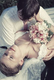 Wedding couple portrait Stock Photography