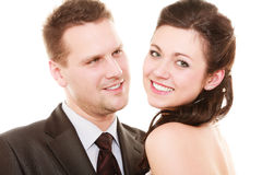 Wedding couple. Portrait of happy bride and groom Royalty Free Stock Images