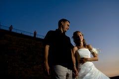 Wedding couple portraits Royalty Free Stock Photo