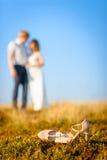 Wedding couple posing Royalty Free Stock Images