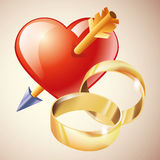 Wedding. Couple and wedding rings icon isolated Stock Photo