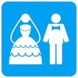 Wedding Couple Rounded Square Raster Icon vector illustration