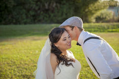 Wedding couple secret Royalty Free Stock Photo